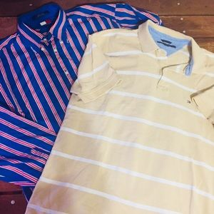 Tommy Hilfiger Men's size Large lot of 2 Shirts